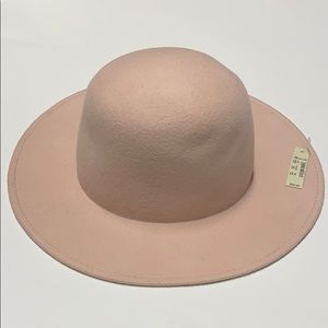 Madewell 100% wool Dome Felt Hat S/M Pink